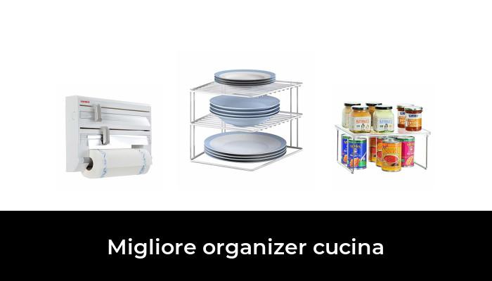 7 scomparti regolabili MASTERTOP Organizer da cucina con 3 scomparti